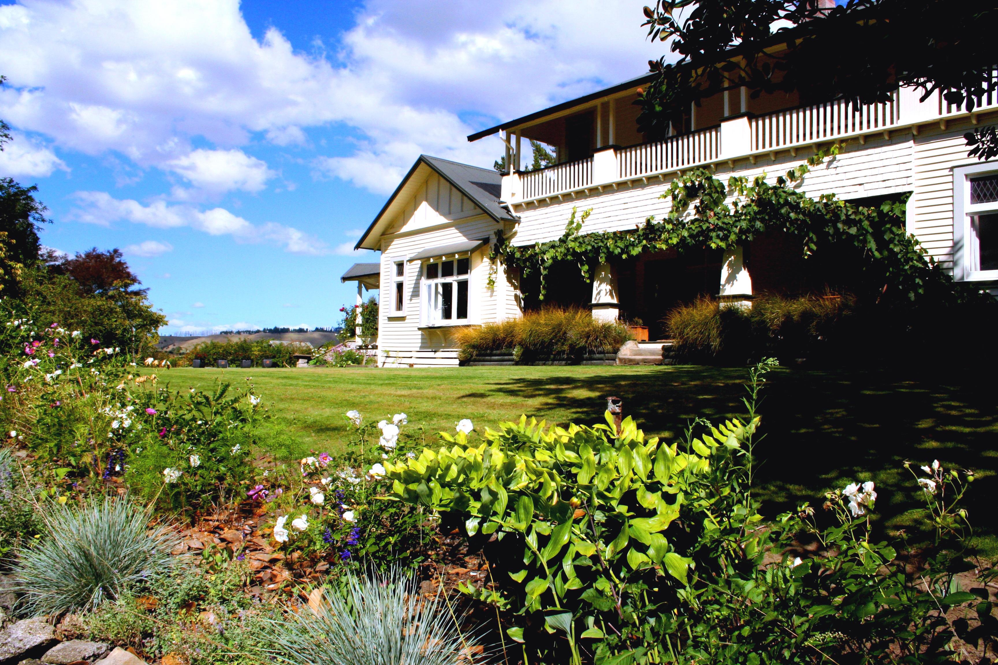 Garden view of Historic Homestead